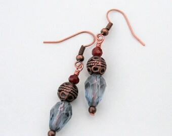 Tibetan Lantern Earrings : Copper-tone