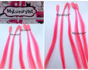 10 PINK Keratip UTip Nail fusion Tip Remy human hair highlights extensions Real pinks streaks by MyLuxury1st