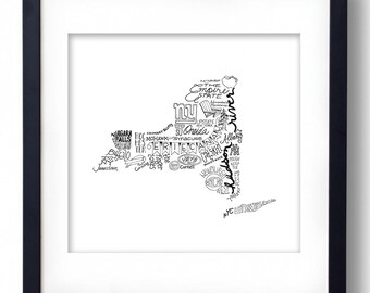 New York - Hand drawn illustrations and type