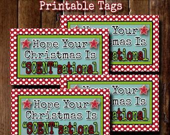 Christmas Gift Tags, Printable Christmas Tags, Scentsational, Teacher Christmas Gifts, Neighbor Christmas Gifts, Coworker Christmas Gift