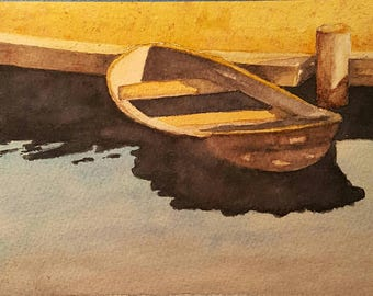 Rowboat Blank Greeting Card