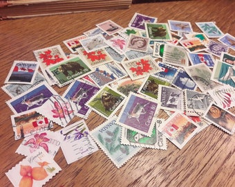 50 Canadian Postage Stamps