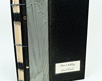 1920's Inspired Vintage Guest Book with Library Cards - with 100 cards