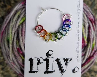 Sock Knitting Stitch Markers | Snag Free Stitch Markers | Snagless Stitch Markers | Tiny Stitch Markers | Rainbow