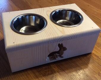 Pet Bunny Rabbit Feeding Station