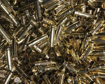 300 Blackout Once Fired Yellow Brass, Cleaned and Polished, Count is 250 + 3%