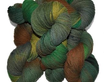 Hand dyed yarn - Columbia Wool yarn, Worsted weight, 170 yards - Vidar
