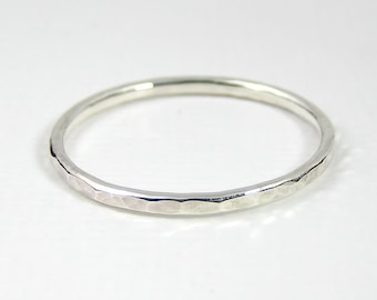 Sterling Silver Stacking Ring, Hammered Ring, Pinkie Rings, Sterling Silver Jewellery