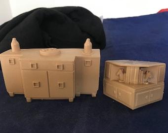 Vintage Doll house furniture plastic