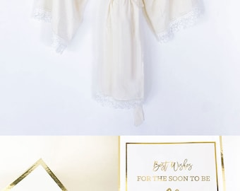 Bride To Be Robe Bride To Be Gift Ideas Wedding Day Robe Engagement Gift for Bride to Be Gift Ideas  (EB3184BPW)