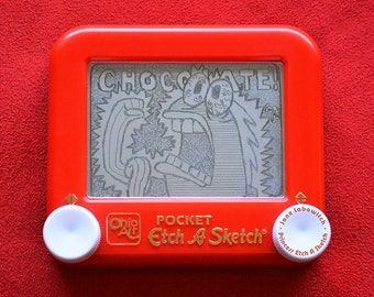 Chocolate Guy Spongebob Squarepants signed Etch A Sketch art print (pick your size!)