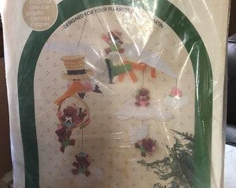 Plastic Canvas Kit - Baby Stork Mobile Kit
