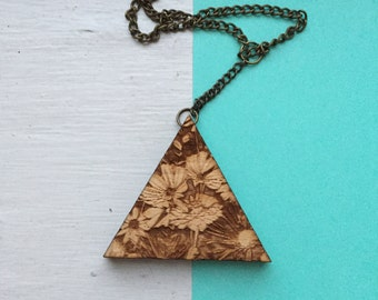 Pollinate - Wooden Laser Cut Necklace