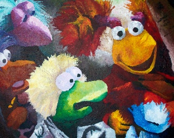 "Down at Fraggle Rock 24x36"" Acrylic Painting"