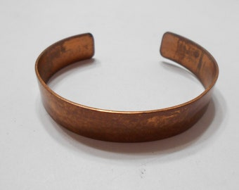 Vintage Thin Copper Cuff Bracelet (5158)