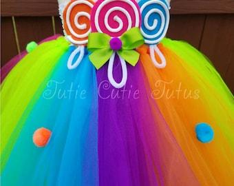 Candyland Inspired Tutu Dress