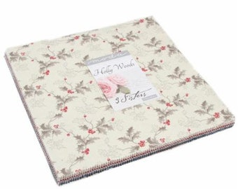 Holly Woods Layer Cake by 3 Sisters for Moda Fabrics. 44170LC