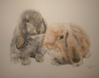 Every Bunny Needs Some Bunny To Love - A3 Print