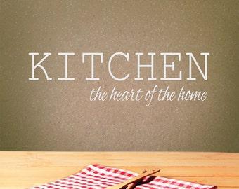 Kitchen Wall Decor - Kitchen Wall Decal - Kitchen the Heart of the Home - Home Decor - Kitchen Decor - Kitchen Decal - Kitchen Wall Art