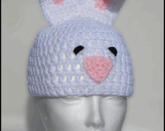 Crochet Pattern for Resale - Bunny Rabbit Hat