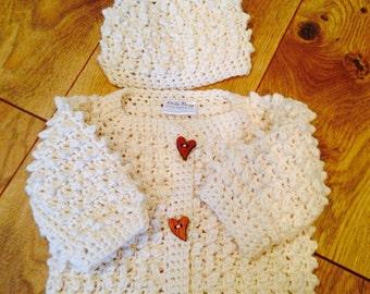 Baby Sweater Set - Cream