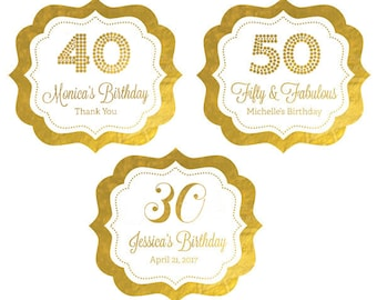 40th Birthday Stickers - 30 Birthday Labels  40th Birthday Labels 30th Birthday Stickers 60th Birthday Stickers (EB3020FY) set of 24| labels