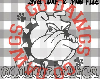 "Bulldogs Spirit ""Go Dawgs"" File (svg, dxf, png)"