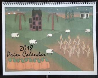 2018 Calendar Primitive