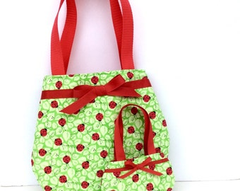Matching Purses for 18 Inch Dolls and Their Girls, Ladybug Purses