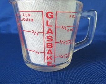 Glasbake Red Letter Measure Cup