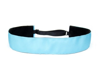 Adjustable Non-Slip Headband - Extra Wide Mystic Blue