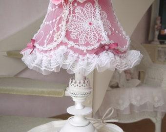 Shabby chic Lampshade and lamp base