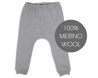 Merino wool baby pants - merino wool baby leggings - merino wool harem pants