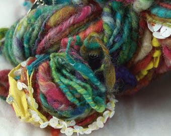 Hand spun Art Yarn, Fashion is Danger, Singles