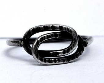 Rings ring / Handcrafted 925 sterling silver