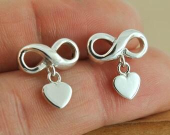infinity earring, sterling silver earring, best friend earring, promise earring,mother daughter earring, friendship earring, sisters earring