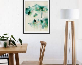 Green Abstract Print. Abstract Art. Green Art. Abstract Painting. Spring Dream Abstract Art Print. Minimal Painting. Wall Art. Wall Decor.