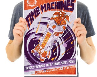 Vintage Time Machines print, Art Print, Time Machine, Time Travel, science gifts, science art, science teacher gifts, engineer gifts