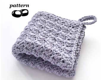 Crochet Washcloth Pattern / Spa Washcloth Crochet Pattern / Crochet Facecloth Crochet Flannel / Bathroom Face Hostess Gift
