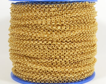 18K Gold Plated Rolo Chain - Gold Plated - CH12-18K-Gp - Choose Your Length