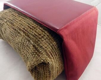 Arm Chair / Arm Rest Bean Bag Mouse Pad (All Burgundy)