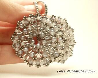 Schema orecchini Winter Lace con perline, Schema di perline con rocailles e cipollotti e superduo