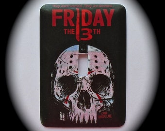 METAL Decorative Single Switch Plate ~ Friday the 13th, Light Switchplate, Switch Plate Cover, Home Decor