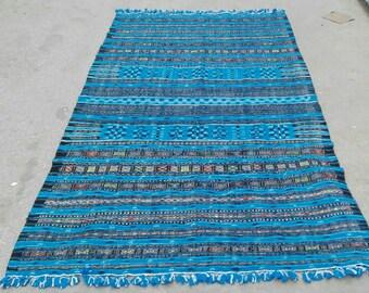 rugs,blue rug, turkish rug, morrocan rug, blue and black rug, big rug,area rug, persian rug , kilim, moroocan kilim,african rug