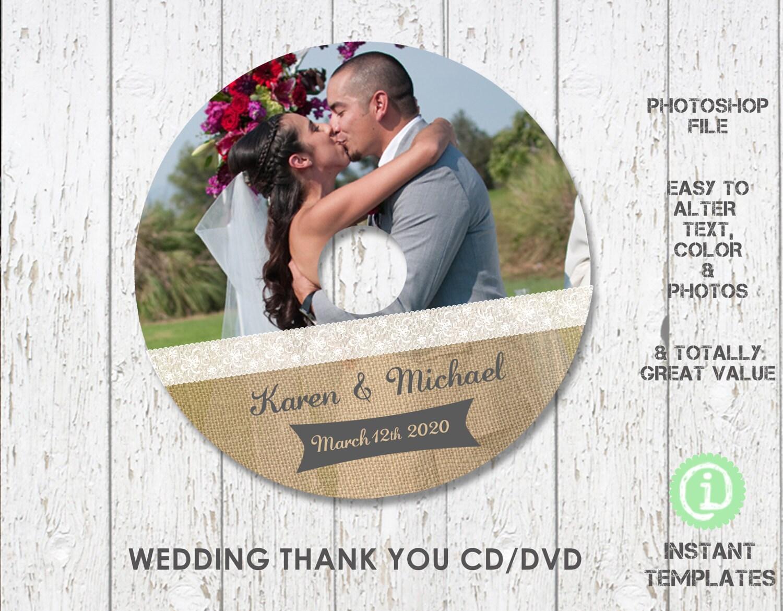 Boda CD DVD plantilla plantilla de Photoshop CD CDW002