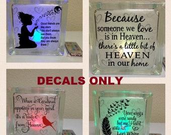 Glass Block Decals Etsy - Glass block vinyl decals