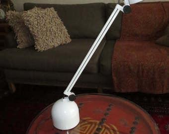 Vintage 1980's Bazz Halogen Table Desk Lamp, Adjustable Arm Lamp , Modern Design , Mid Century Modern