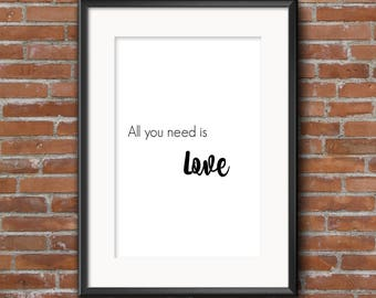 Instant download Digital Art All You Need Is Love