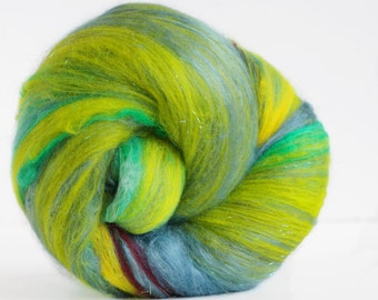 FREE SPIRIT 3 oz  Wool - Merino // Art Batt // Wool Art Batt for spinning or needle felting