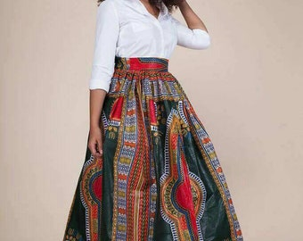 Maxi skirt high waist wax